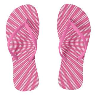 Radial Circular Weaving Pattern - Pink Thongs