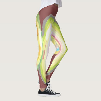 Radial Effect, by Mickeys Art And Design Leggings