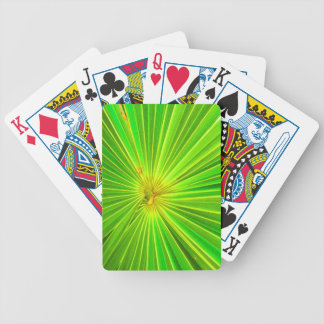 Radial Palm Leaf, Tulum Bicycle Playing Cards