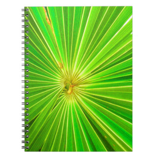 Radial Palm Leaf, Tulum Spiral Note Books