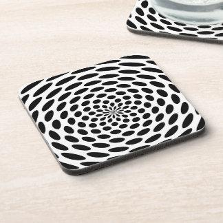 Radial Polka Dot Beverage Coaster