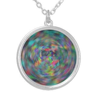 Radial tye-dye necklace