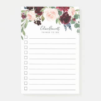 Radiant Bloom Personalized To-Do List Post-it Notes