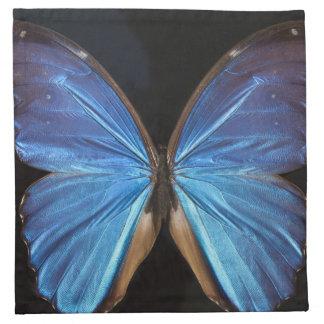 Radiant Blue Butterfly Napkin