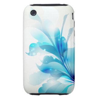 Radiant Blue Floral iPhone 3gs Case