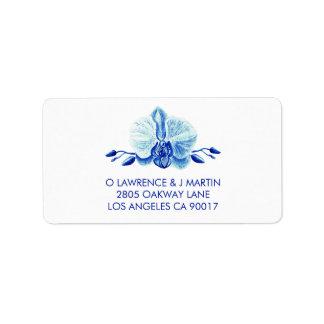 Radiant Blue Orchid Floral Label