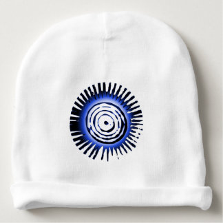 Radiant Blue Sun Symbol Baby Beanie