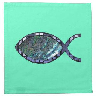 Radiant Christian Fish Symbol Cloth Napkin