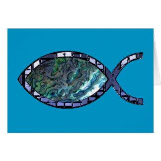 Radiant Christian Fish Symbol Greeting Card