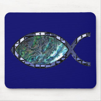 Radiant Christian Fish Symbol Mouse Pad