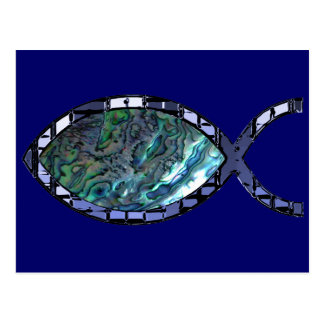 Radiant Christian Fish Symbol Postcard
