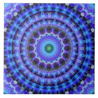 Radiant Core Mandala Ceramic Tile