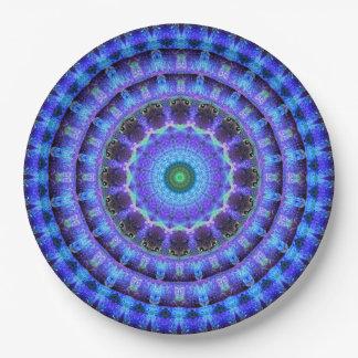Radiant Core Mandala Paper Plate