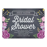 Radiant Floral Bridal Shower Invitation - Purple