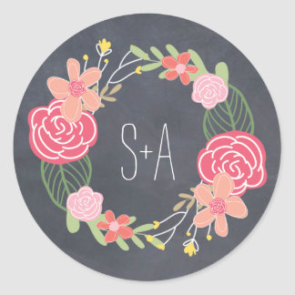 Radiant Florals Favor Sticker