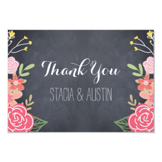 Radiant Florals Flat Thank You Card 9 Cm X 13 Cm Invitation Card