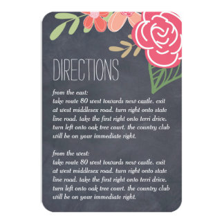 Radiant Florals Wedding Directions Cards 9 Cm X 13 Cm Invitation Card