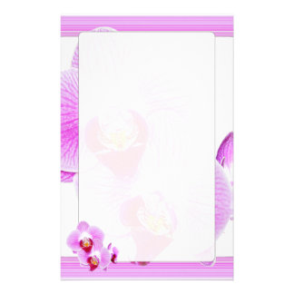 Radiant Orchid Closeup Photo with Square Frame Custom Stationery