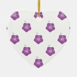 Radiant Orchid Flower Pattern 3 Christmas Ornament