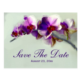 Radiant Orchid Painting Save The Date Wedding Card