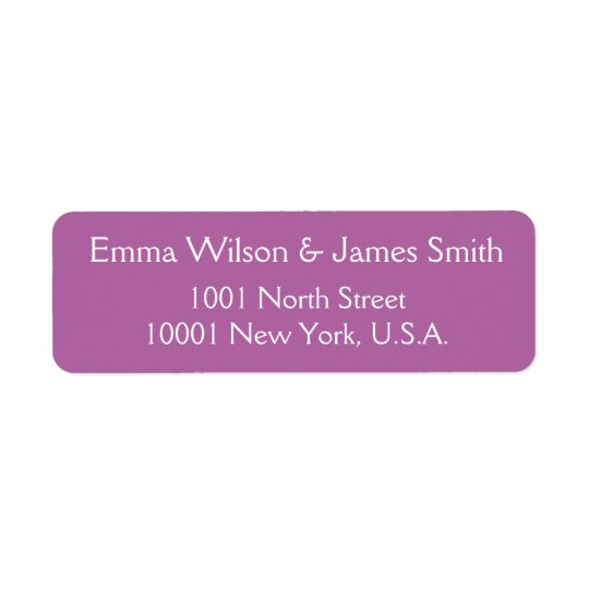 Radiant Orchid Personalised Return Address Labels