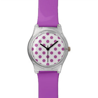 Radiant Orchid Polka Dots Wrist Watch