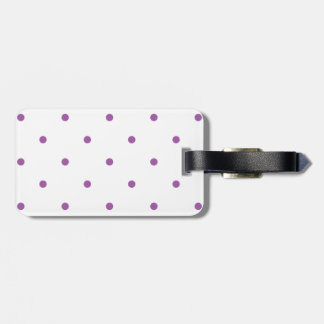 Radiant Orchid Polkadots Small Tags For Luggage