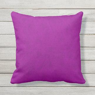 Radiant Orchid Purple Velvet Look Outdoor Cushion