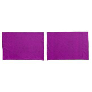 Radiant Orchid Purple Velvet Look Pillowcase