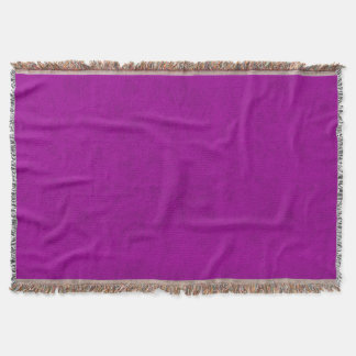 Radiant Orchid Purple Velvet Look Throw Blanket