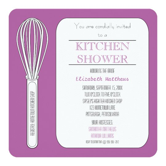Radiant Orchid Whisk Kitchen Shower Card