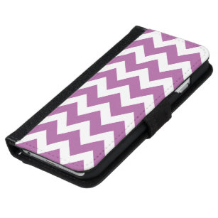 Radiant orchid White chevron iPhone 5 wallet case