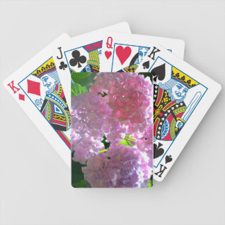 Radiant Pink hydrangeas Bicycle Playing Cards