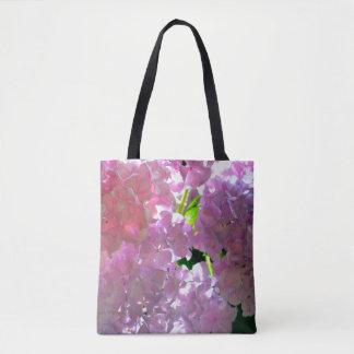 Radiant Pink Hydrangeas Tote Bag
