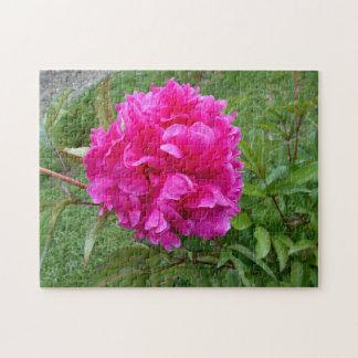 Radiant Pink Peony Jigsaw Puzzle
