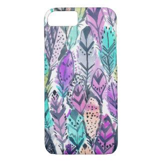 Radiant Purple Boho Feathers iPhone 8/7 Case