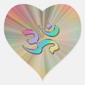 Radiant Rainbow Sunburst OM Aum Sticker