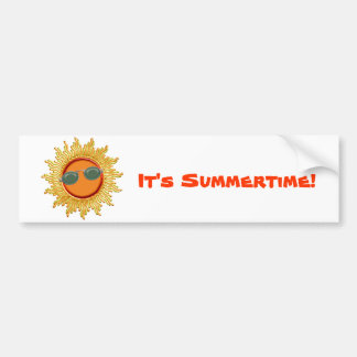 Radiant Sun with Sunglasses Bumper Sticker