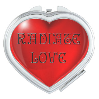 Radiate Love Heart Makeup Mirror