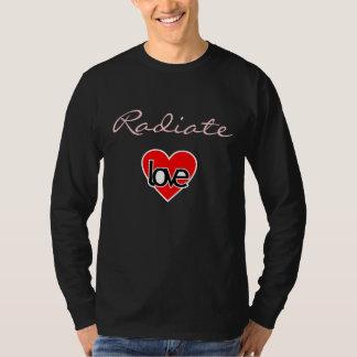 Radiate love mens shirt