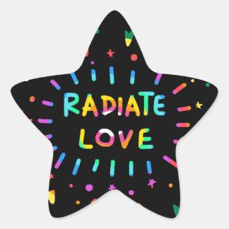 Radiate Love Painting Black Star Sticker
