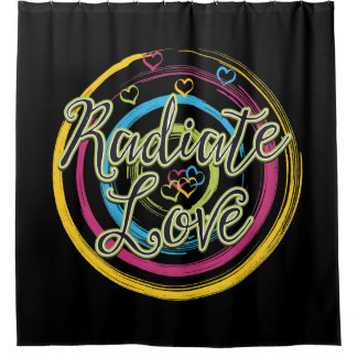 Radiate Love with Hearts Shower Curtain
