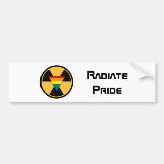 Radiate Pride Bumper Sticker