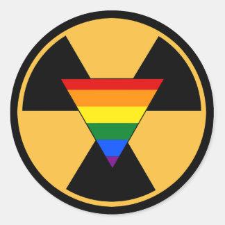 Radiate Your Pride! Classic Round Sticker