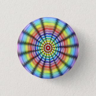 Radiating Flower 3 Cm Round Badge