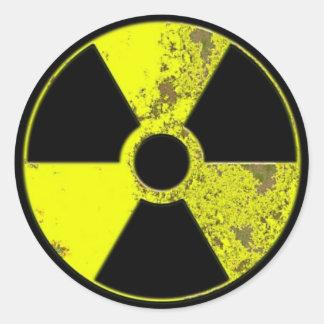Radiation Classic Round Sticker