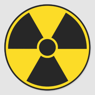 Radiation Hazard Sign Classic Round Sticker
