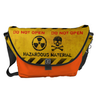 Radiation Hazard Sign Messenger Bags