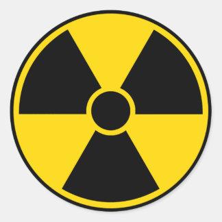 Radiation Hazard Sign Round Sticker