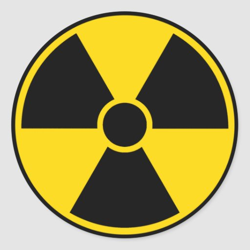 Radiation Hazard Sign Sticker
